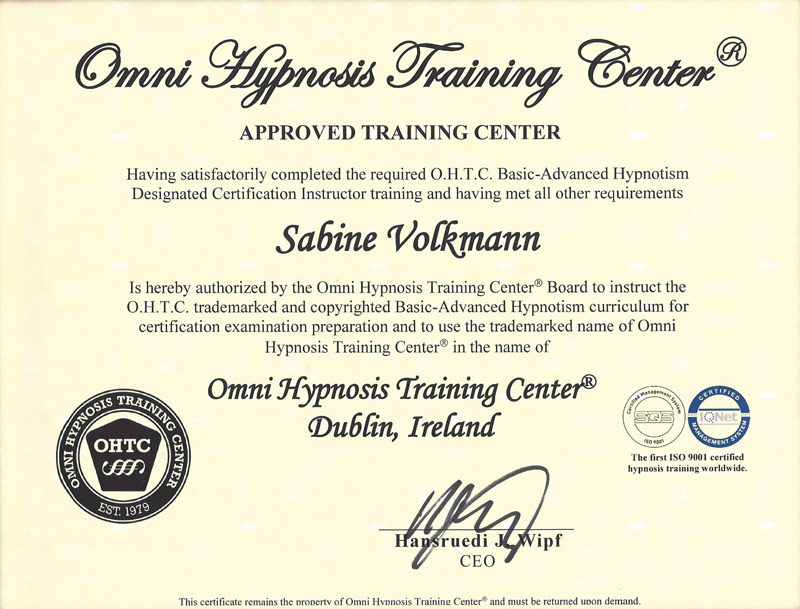About Me | OMNI Hypnosis Training Center Dublin